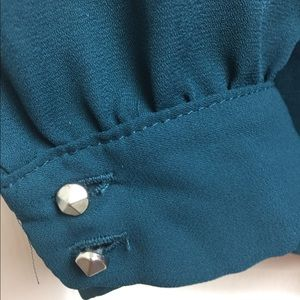 EUC Teal and Black Blouse